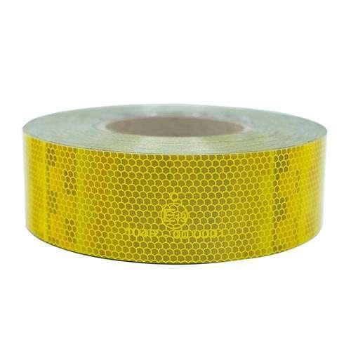 V-6701B | สติ๊กเกอร์ติดรถสะท้อนแสง สีเหลือง ยี่ห้อ Avery