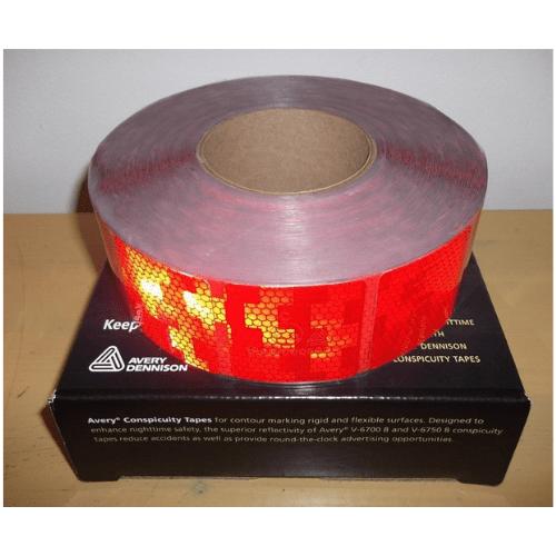 V-6792 | สติ๊กเกอร์สะท้อนแสง 2 นิ้ว x 50 เมตร สีแดง